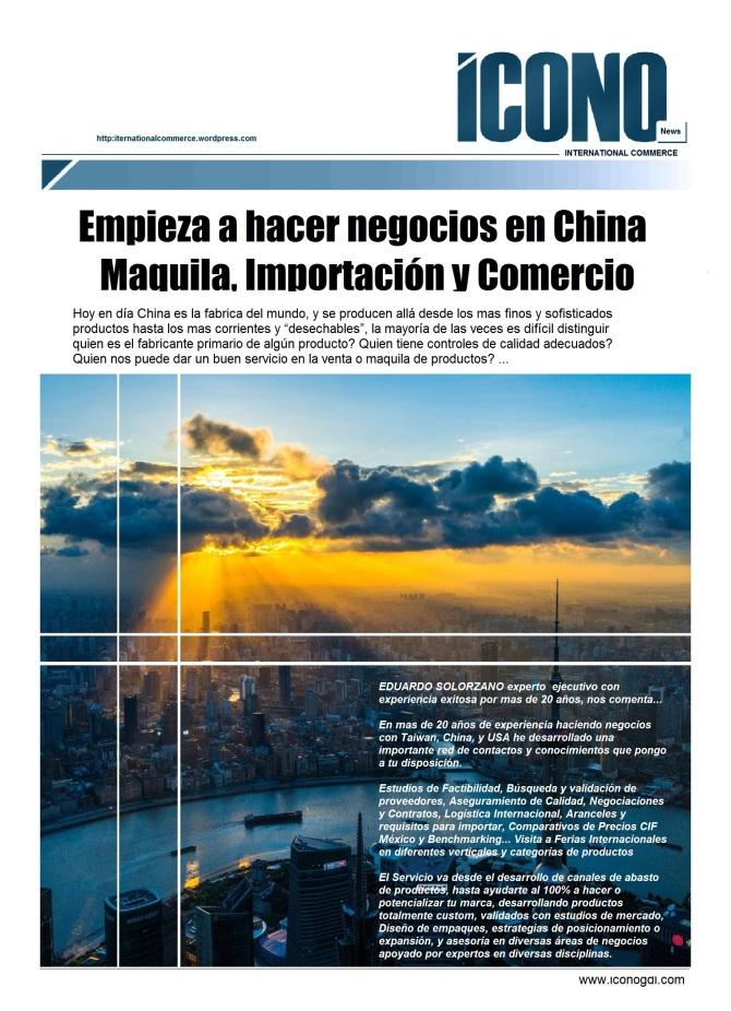 Eduardo Solorzano Negocios con CHINA